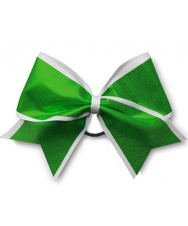 Cheer Hair Ribbon White Green