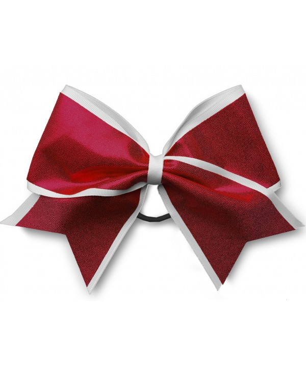 Cheer Hair Ribbon White Red