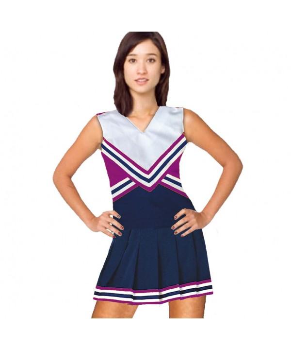Cheerleader Kostüm 9001 Marine  Weiß