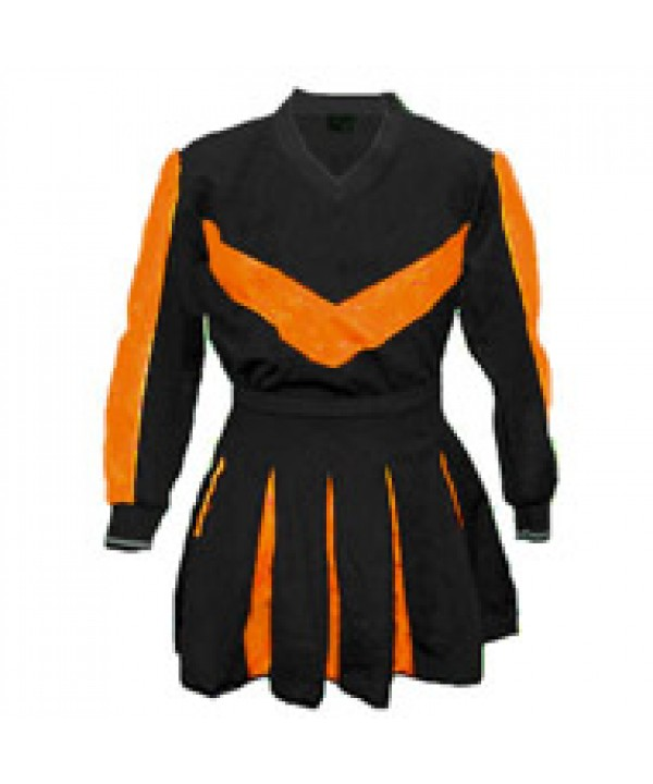 Cheerleader Kostüm 9003 Schwarz  Orange