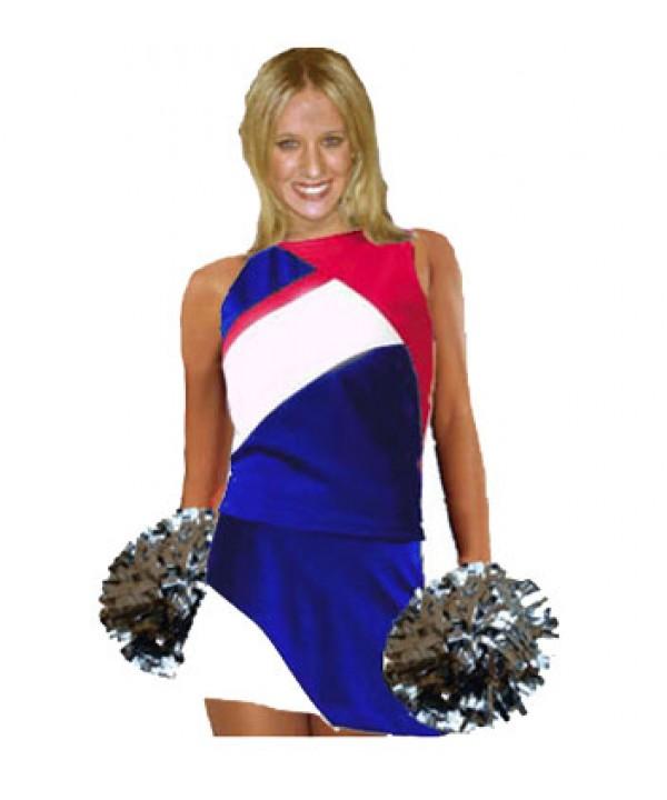 Cheerleader Kostüm 9006 Royal  Weiß  Rot