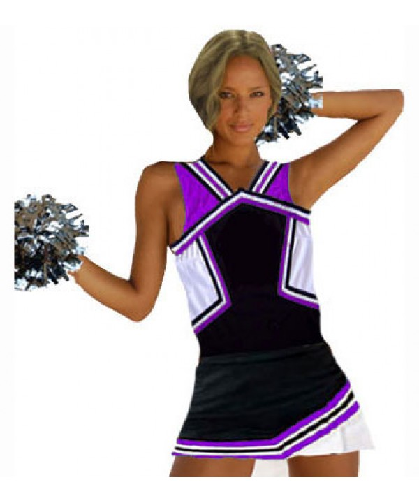 Cheerleader Uniform 9008 black,  purple,   white,