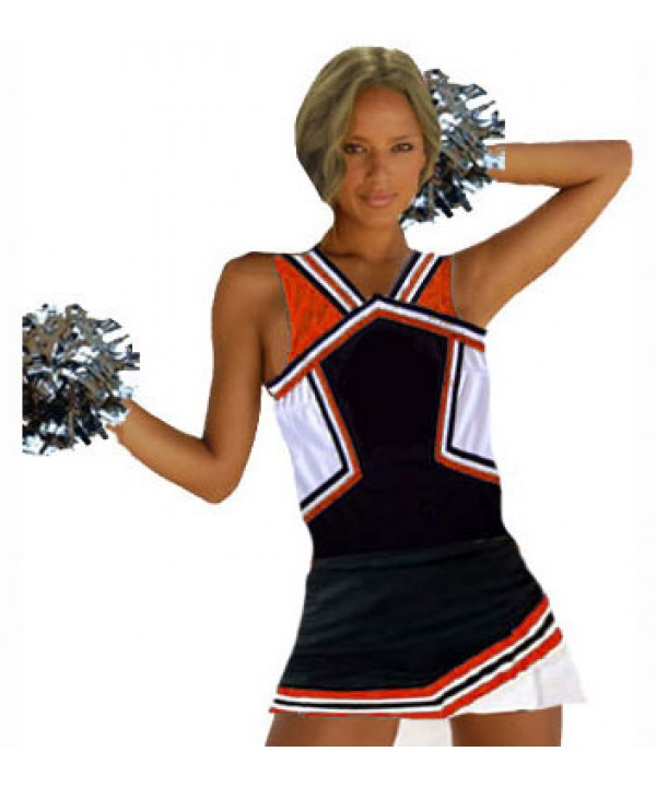 Cheerleader Uniform 9008 black,  red,   white,