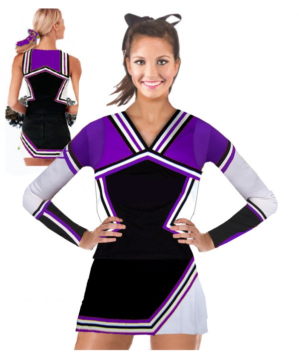 Cheerleading Uniform 3 pcs 9008tp black,  purple, ...