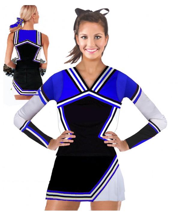 Cheerleading Uniform 3 pcs 9008tp black,  royal,  ...
