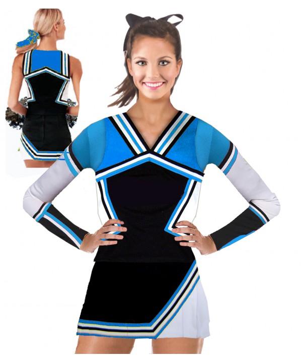 Cheerleading Kostüm 3 Teiler 9008tp Schwarz  Hell...
