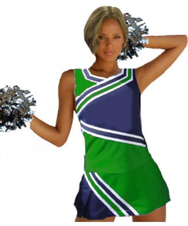 Cheerleader Kostüm 9009 Grün  Marine
