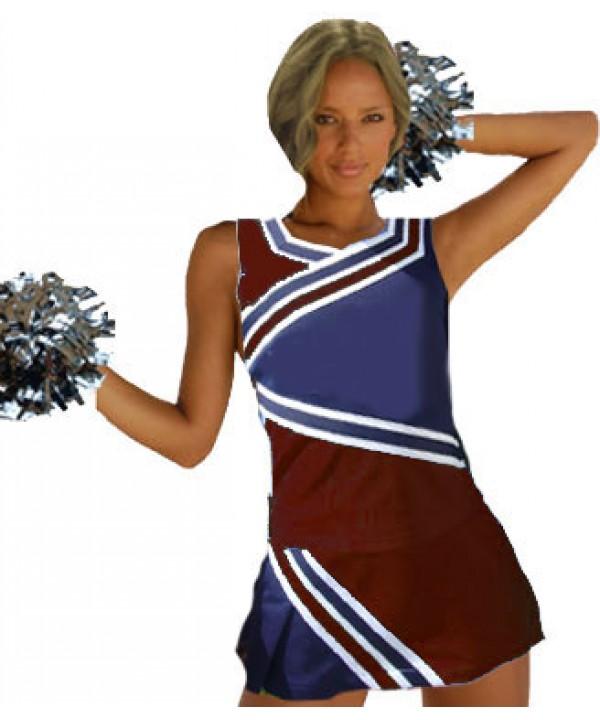Cheerleader Kostüm 9009 Burgund  Marine