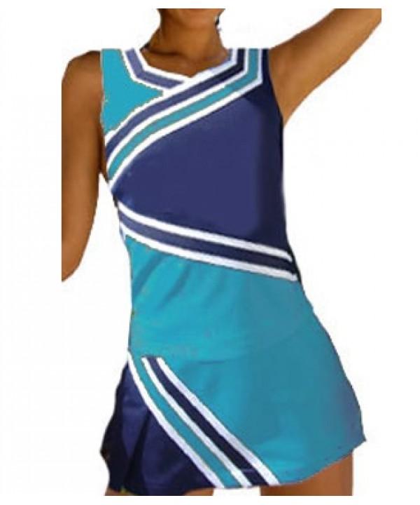 Cheerleader Kostüm 9009 Hellblau  Marine