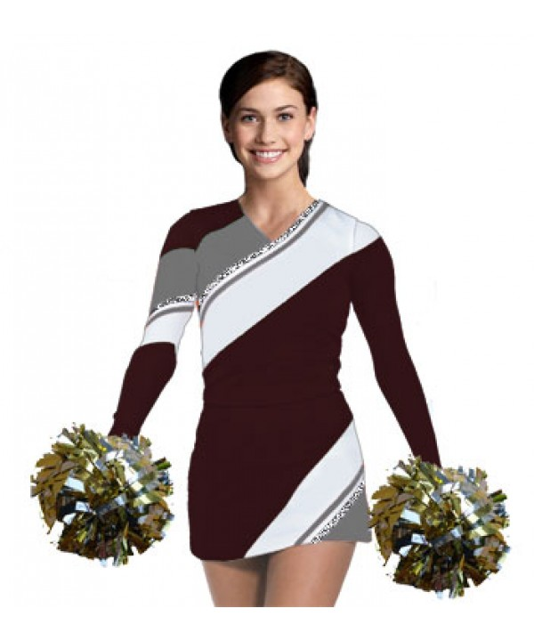 Cheerleading Uniform 3 pcs 90102tp maroon,  white,...