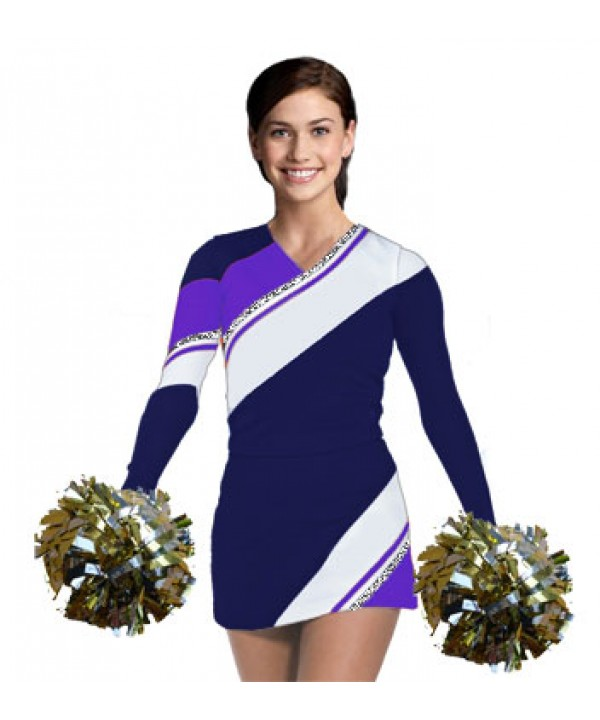 Cheerleading Uniform 3 pcs 90102tp navy,  white,  ...