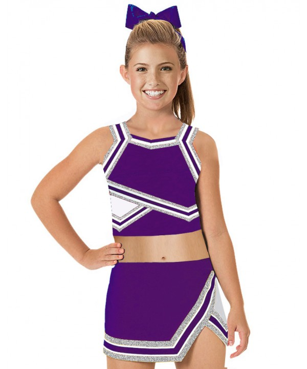 Cheerleader Uniform 90103b purple,  white,