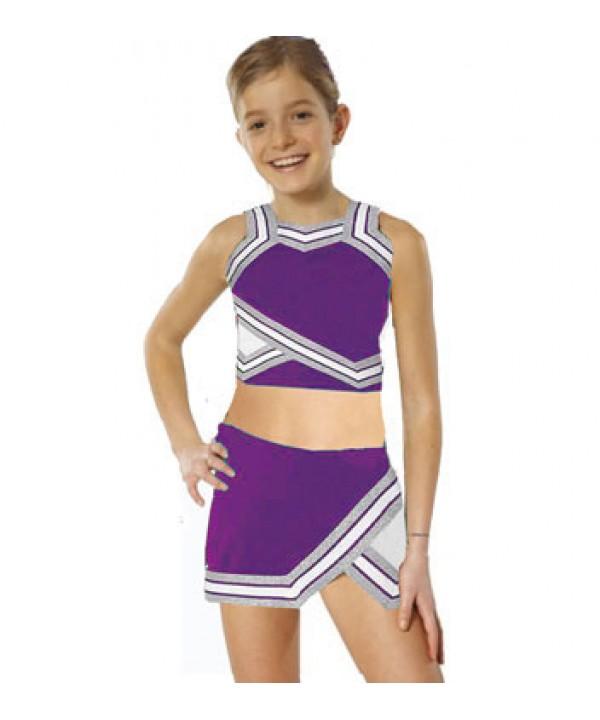 Cheerleader Kostüm 90103b Lila  Weiß