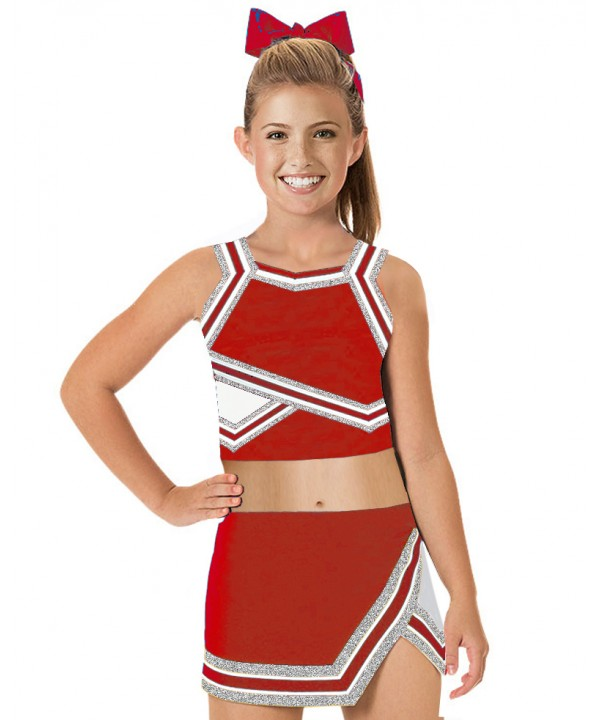 Cheerleader Uniform 90103b red,  white,