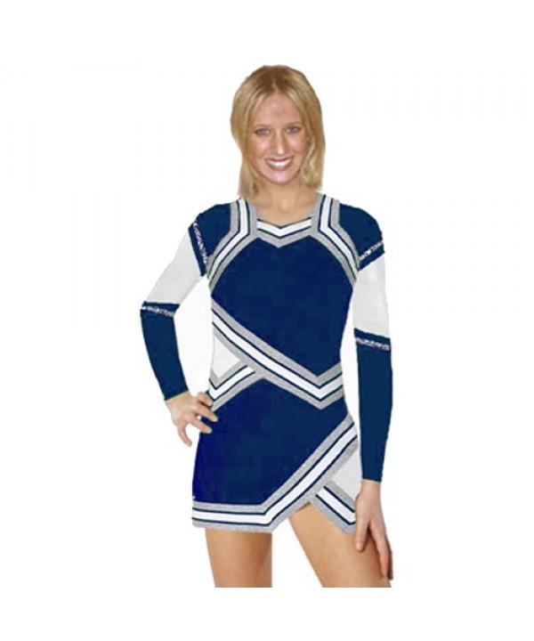Cheerleader Kostüm 90103w Marine  Weiß