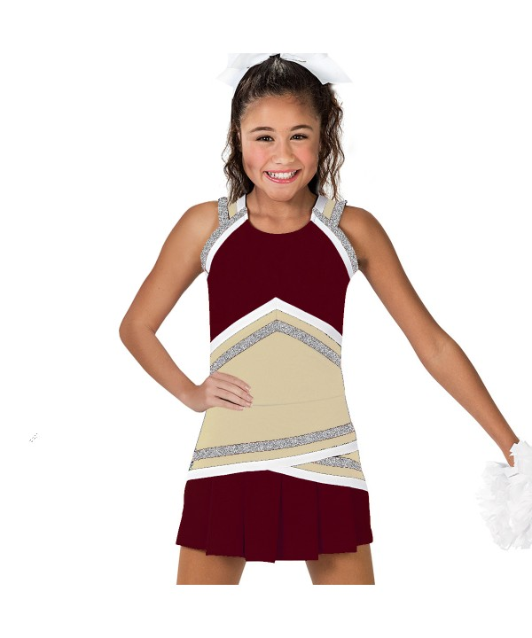 Cheerleader Uniform 90151 maroon,