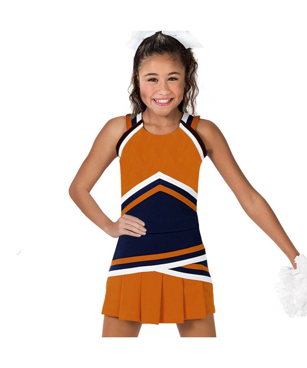 Cheerleader Uniform 90151 orange  black,
