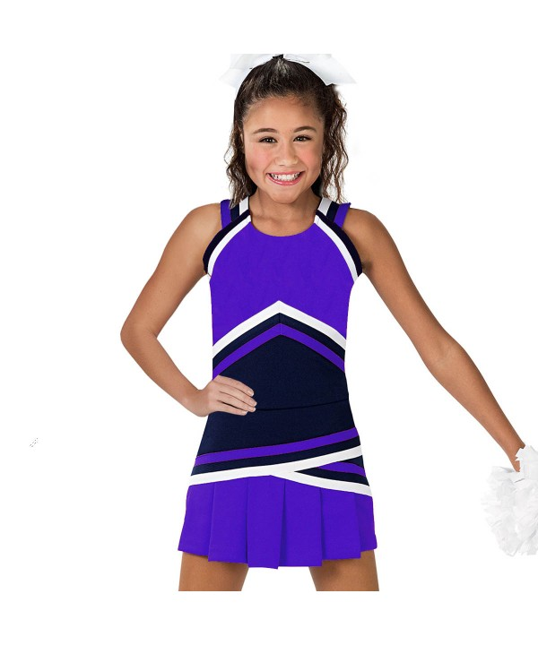 Cheerleader Uniform 90151 purple,  black,