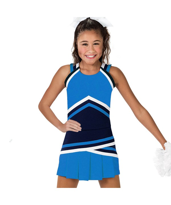 Cheerleader Uniform 90151 sky blue,  black,