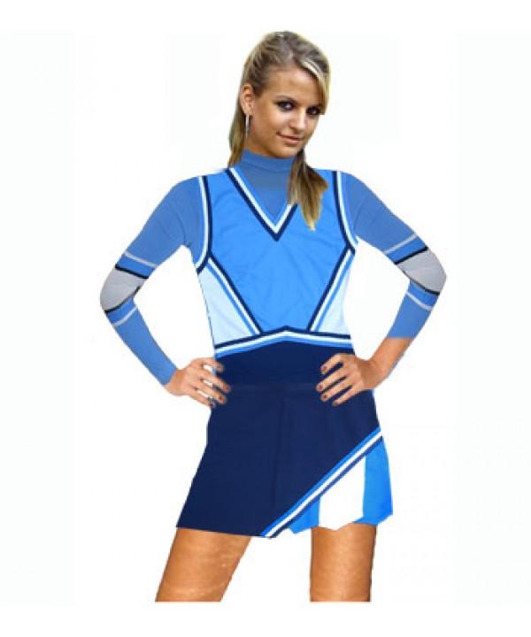 Cheerleader Kostüm 9016 Marine  Hellblau  Weiß