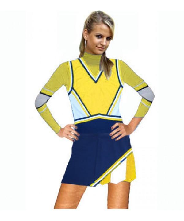 Cheerleader Kostüm 9016 Marine  Gelb  Weiß