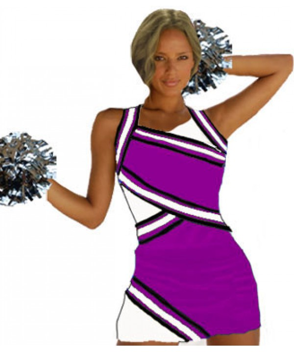 Cheerleader Uniform 9027 purple,  white,