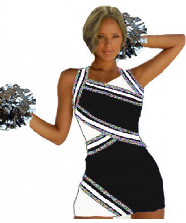 Cheerleader Uniform 9027g black,  white,