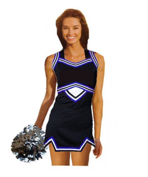Cheerleader Uniform 9039 navy,  white,