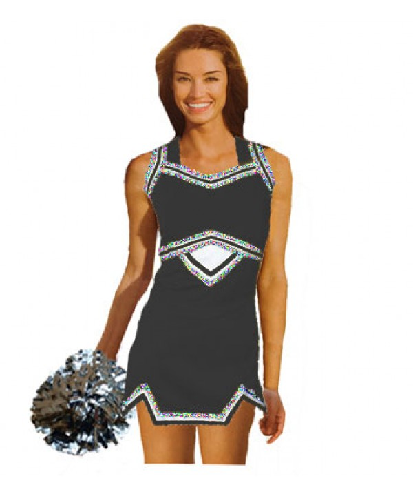 Cheerleader Uniform 9039g black,  white,
