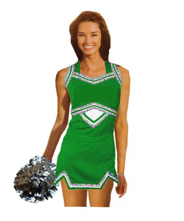 Cheerleader Uniform 9039g green,  white,