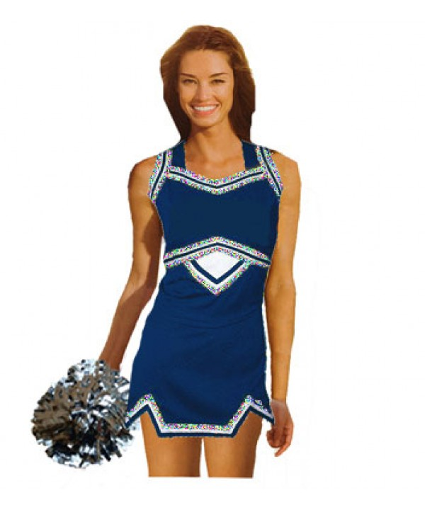 Cheerleader Uniform 9039g navy,  white,