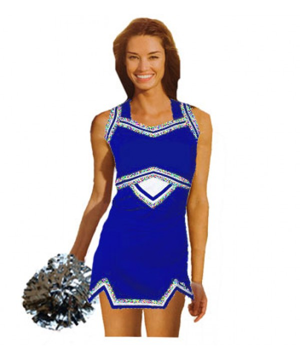 Cheerleader Uniform 9039g royal,  white,