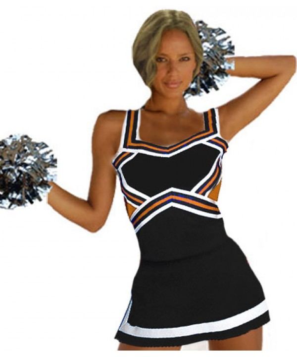 Cheerleader Uniform 9047 black,  orange
