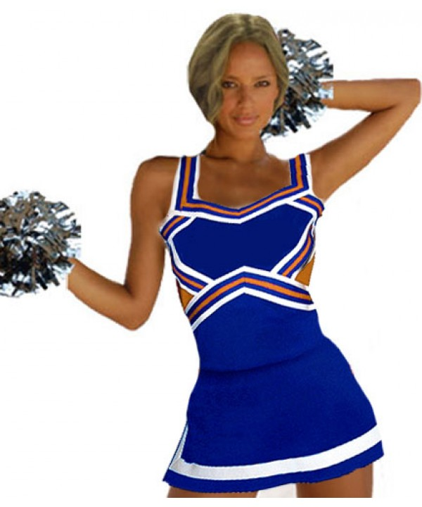 Cheerleader Uniform 9047 royal,  orange