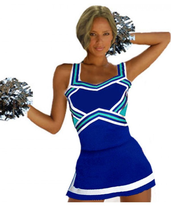 Cheerleader Kostüm 9047 Royal  Hellblau