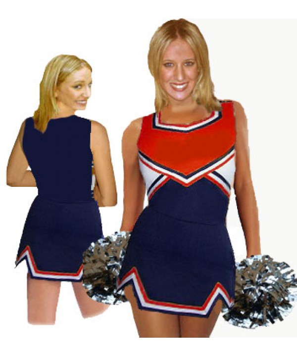 Cheerleader Uniform 9050 navy,  red,   white,