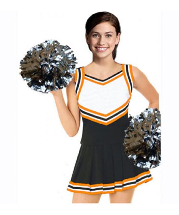Cheerleader Uniform 9054 black,  white,