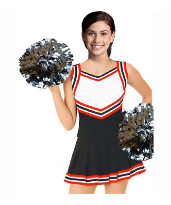 Cheerleader Kostüm 9054 Schwarz  Weiß