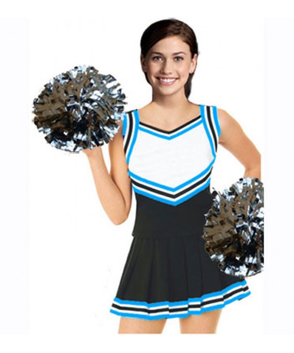 Cheerleading Uniform 3 pcs 9054tp black,  white,