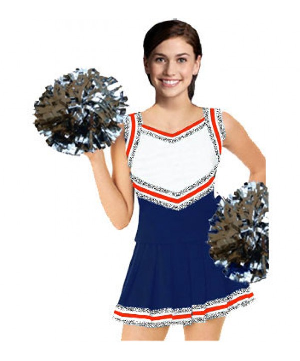 Cheerleader Uniform 9054 navy,  white,