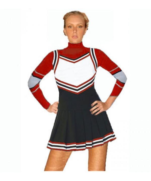 Cheerleading Uniform 3 pcs 9054tp black,  white,  ...