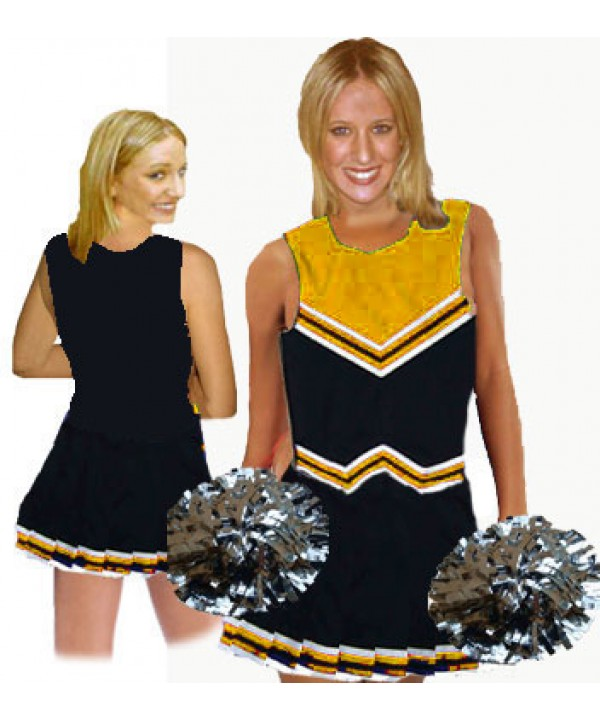 Cheerleader Uniform 9055 black,  orange