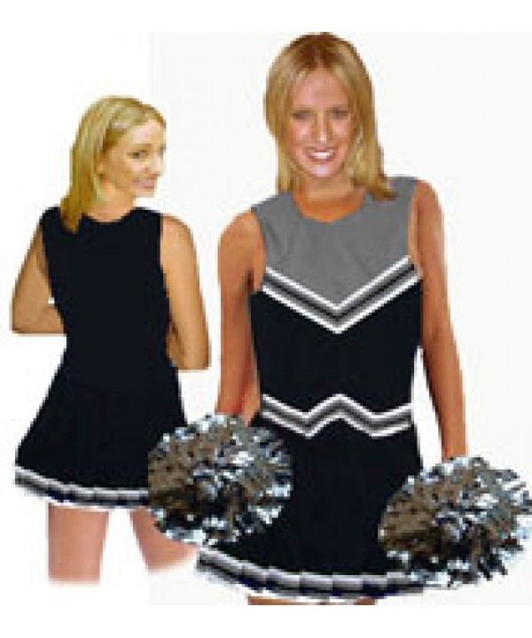 Cheerleader Uniform 9055 black,  grey,