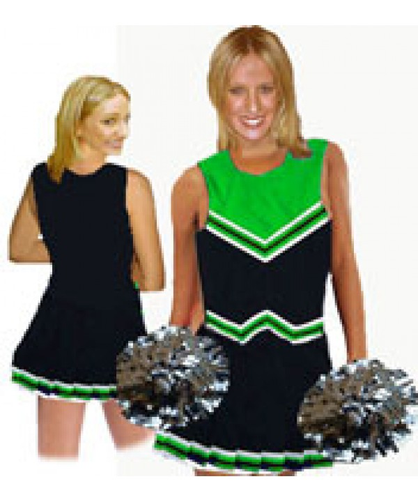 Cheerleader Uniform 9055 black,  green,