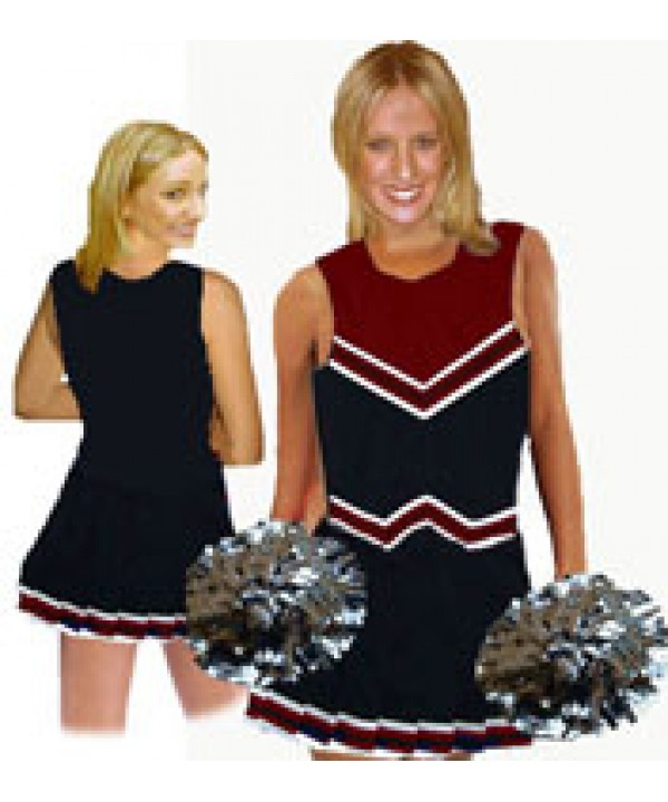 Cheerleader Uniform 9055 black,  maroon,