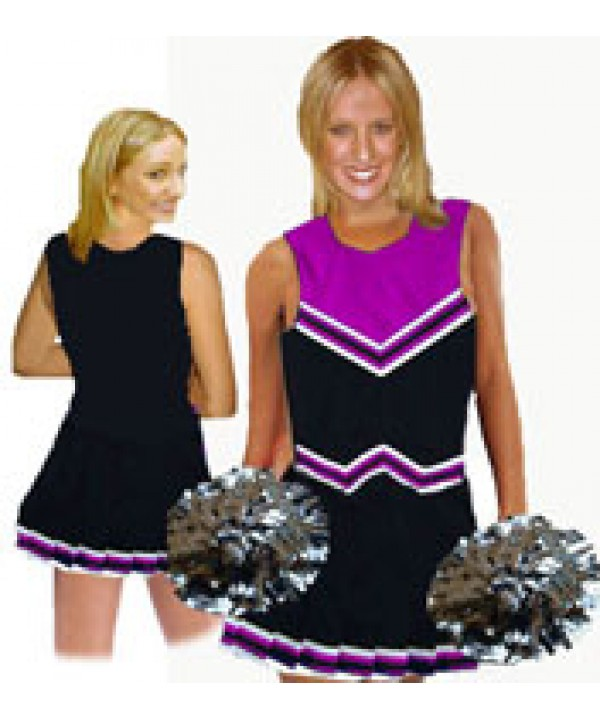 Cheerleader Uniform 9055 black,  purple,