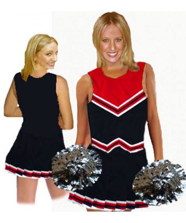 Cheerleader Uniform 9055 black,  red,