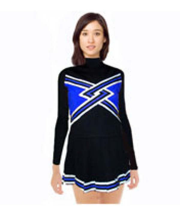 Cheerleading Uniform 3 pcs 9058tp black,  royal,  ...