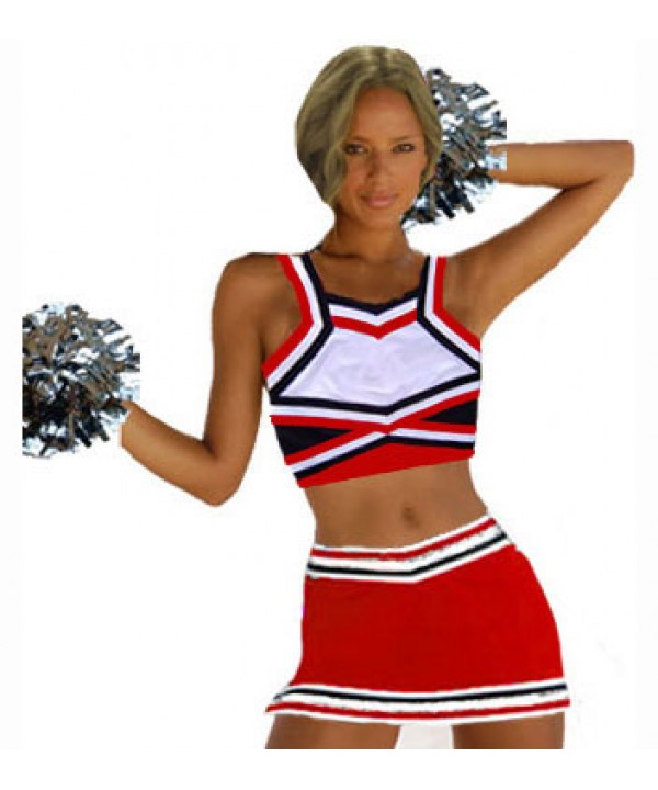 Cheerleader All Star Uniform 9as08Wtn red,  white,...