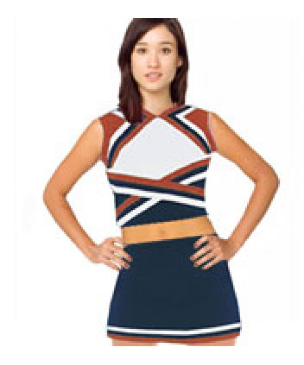 Cheerleader Uniform 9078b navy,  white,   red,